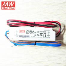 MEANWELL 5Vdc 3A controlador de LED a prueba de agua con UL CE LPV-20-5