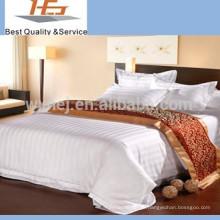 Больницы отель атласная полоса простыня плоский лист оптом