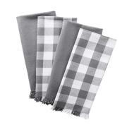 Cotton Dish Towels with Decorative Fringe