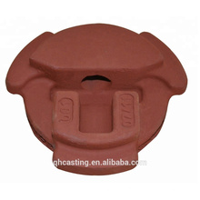 ISO9001 CNC machining railway part investment steel casting