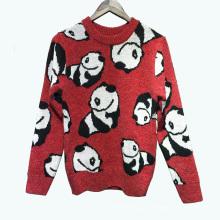 PK18A50YF mulher algodão jacquard camisola