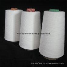 T / C Polyester85 / Cotton15 mezcló el hilado 32s encerado