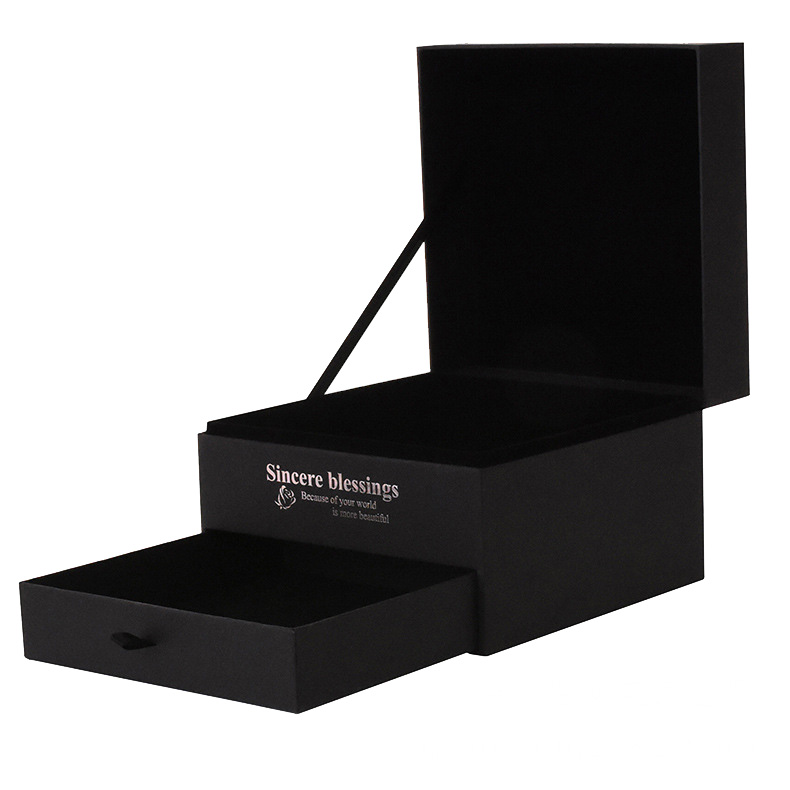 Black Paper Card Rigid Gift Box