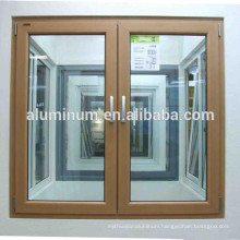 wooden aluminium side-open windows china manufacture