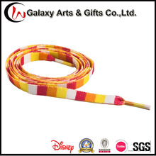Mix-Colour Custom Printed Sublimation Polyester Flat Shoelaces