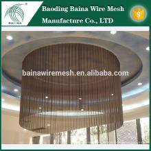Fachadas exteriores Decoração Metal Mesh / Metal Decoração Fenda de malha / proteção externa Malha de arame tecido