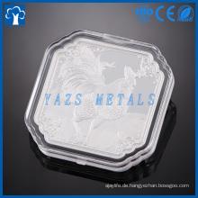 kundenspezifischer Metallhersteller Hydraulischer Druck Silbermünze