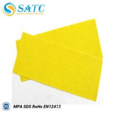 feuille de papier abrasif de mur sec jaune avec la qualité et le prix raisonnable