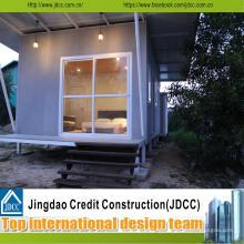Casa de férias pequena pré-fabricada da estrutura de aço de Jdcc-Light