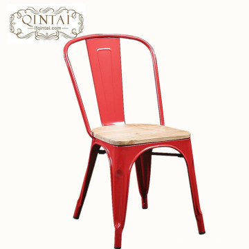 Silla de madera industrial colorida al por mayor del metal de Seat del diseño simple del vintage