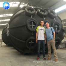 Marine Balloon Boat Rubber Fender With Galvanized Chain And Tire