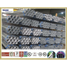 """4"""" fence tube /galvanized pipe to BS 1387, ASTM A53, JIS G 3452, KS"""