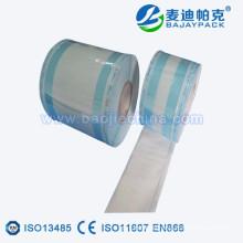 Sterilisation faltete Plastikpapierrolle für zahnmedizinisches