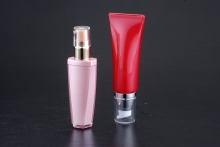 airless pump bottle tube packaging ,plastic clear packaging