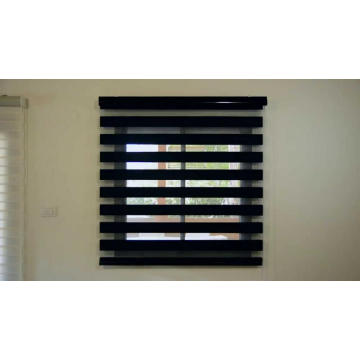 Horizontal zebra blinds Black for windows