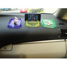 Estera antirresbaladiza para el teléfono móvil, cojín antirresbaladizo del coche de la caja de almacenamiento de múltiples funciones