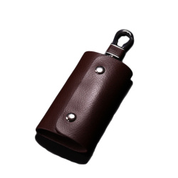 Small PU Leather Key Case Holder for Men