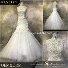 Moda profissional melhor vestidos de casamento de manga comprida