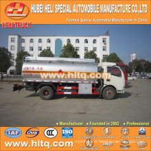 DFAC 4x2 6CBM camion citerne chimique liquide à vendre, usine de fabrication de Chine