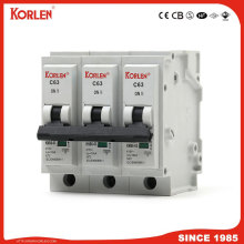 10ka Mini Circuit Breaker tipo plug-in MCB 6A-63A IEC60898