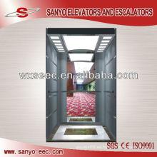 Elevador de pasajeros de acero inoxidable de vidrio y espejo