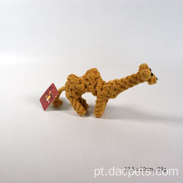 Camel Shape Trançado Cotton Rope Dog Chew Toy