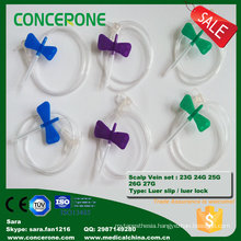 Butterfly Scalp Vein Set 18g-27g for Infusion Sets