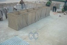 Free Sample Galfan Coated After Welded Hesco Barriers Security Gabion Retaining Walls