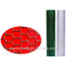 Malha de arame hexagonal de PVC / malha de arame hexagonal galvanizado / malha de arame hexagonal preto