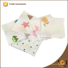 vendas!! 4-ply Saliva toalha 100% algodão para recém-nascido