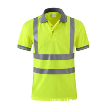 Mens Reflective Green T Shirt Hi Vis Sports Safety T Shirt