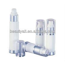 Botella de plástico cosmético sin aire transparente