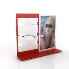 Suporte de exposição acrílica de óculos de mesa, suporte de exibição de óculos acrílicos