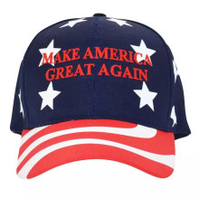 Custom Red Sport Cap Embroidered Hat for Vote Election Hat