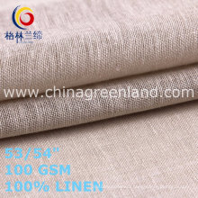 Linen Plain Fabric for Fashion Style Garments (GLLML468)