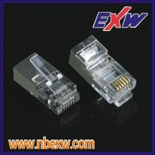 Plugue de RJ45 Cat6 blindado
