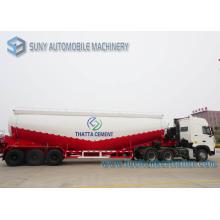 White Durable Heavy Duty Dry Bulk Tank Trailer High Capacity