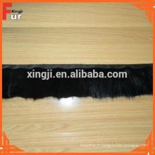 Noir renforcé, véritable garniture en fourrure de vison