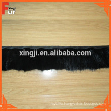 Reinforced Black, real Mink Fur Trim