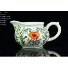 Famille Rose Blue & White Porcelana, Big Red Flower Pitcher, 200cc / jarro