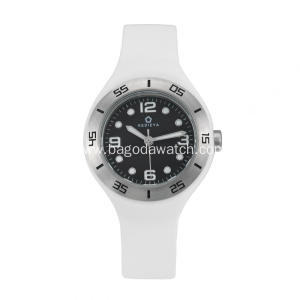 Women's stainless steel silicone strap watches