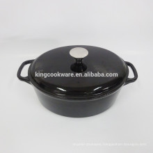 Wholesale Restaurant Cookware  Black enamel oval cast iron casserole/cookware/pot/wok