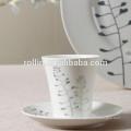 Neue Ankunft vorzügliche moderne preiswerte weiße keramische Tellerplatte setzt
