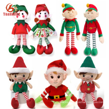 China Custom Mini Cute Plush Elves Soft Christmas Doll Plush Elf Toy