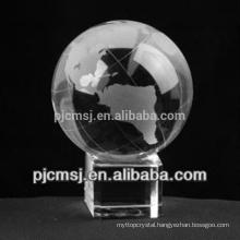 Crystal ball,crystal gift or souveir,globe crystal ball with base 2016