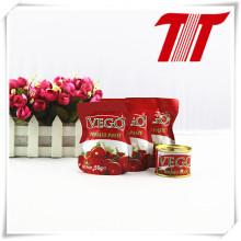 Zinn und Sachet Tomaten Paste-70g Vego Marke