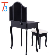 black modern wood mirrored dresser furniture dressing table