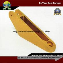 Peças anodizadas amarelas do CNC do conector das peças de alumínio anodizadas do CNC