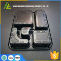 black plastic microwaveable disposable food container