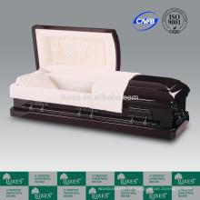 LUXES alto padrão caixões de madeira cama Funeral suprimentos